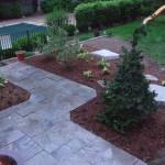 Blue Flagstone Walkway with plants