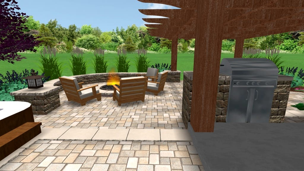 Pergola and Fire Pit Design