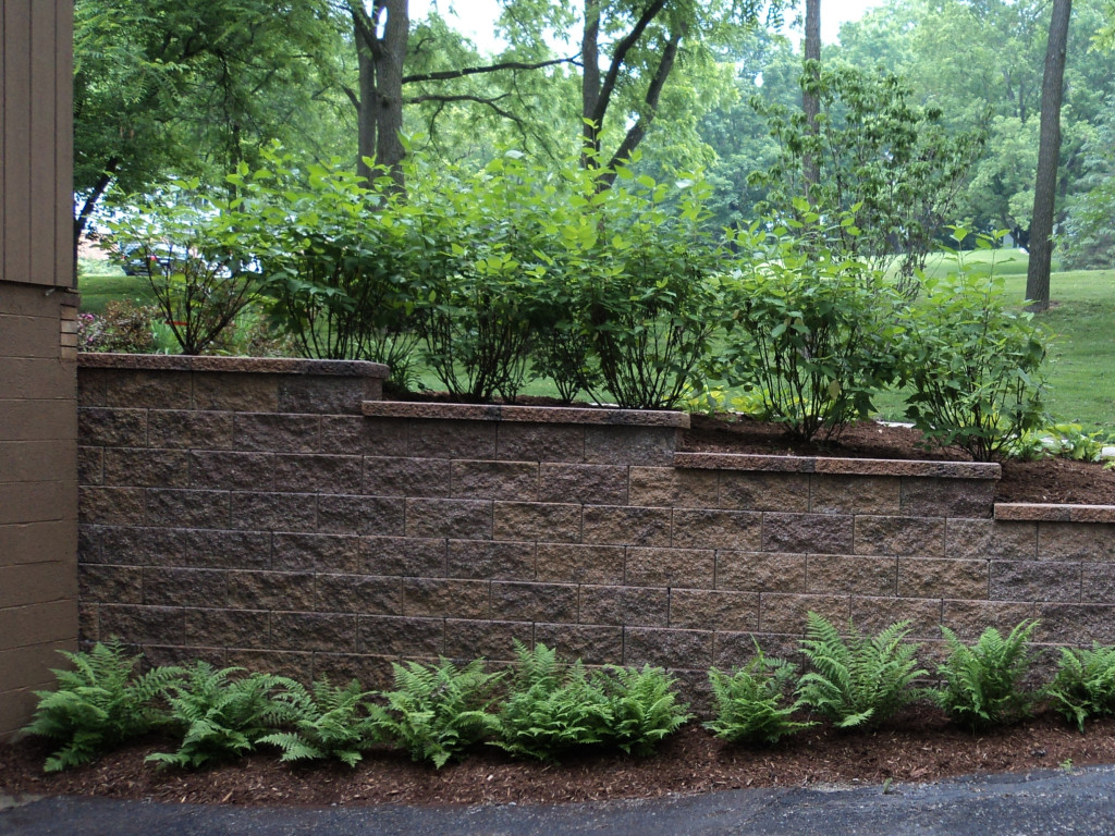 Retaining Wall And Landscape