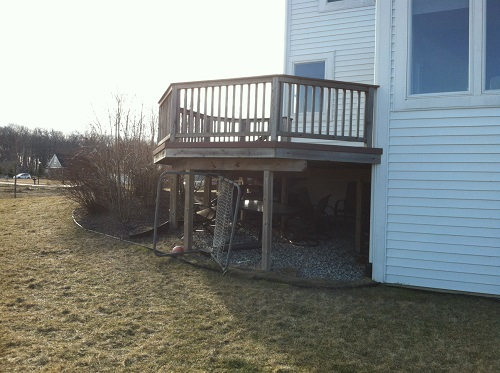 Deck Extension - Before