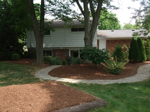 Fresh Mulch Beds - After