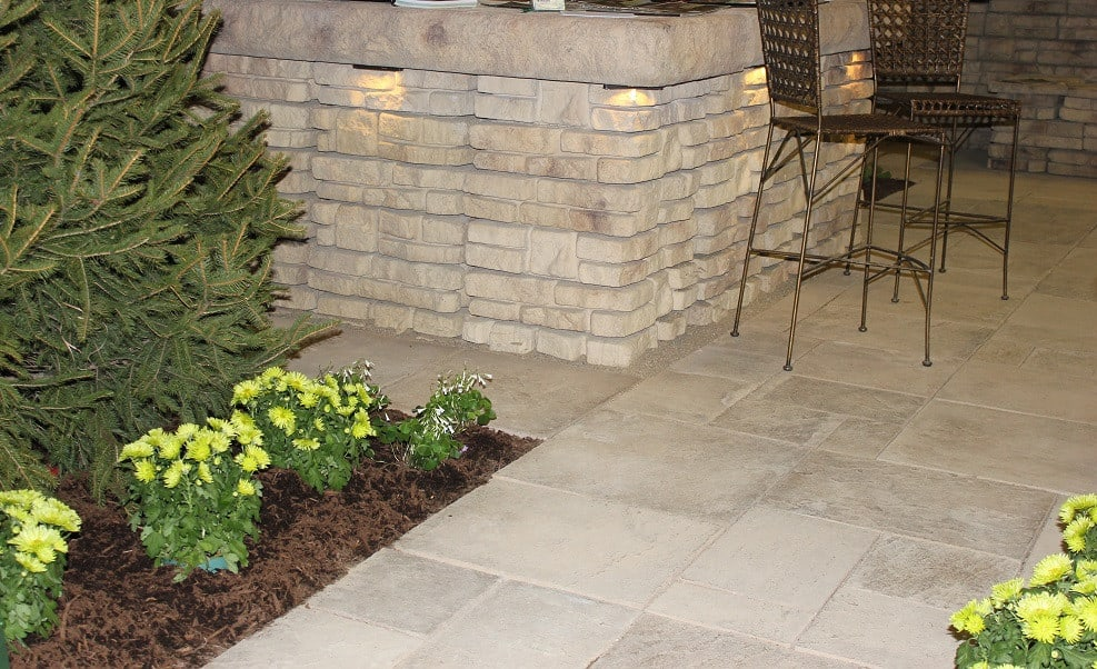 Wall and Stone Patio