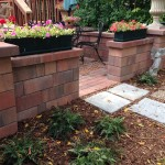 Paver Patio with Walls