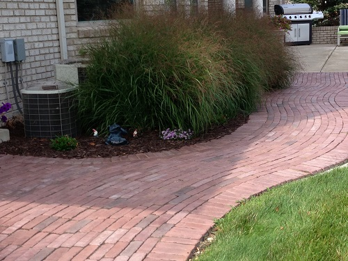Paver walkway with Unilock Copthorne
