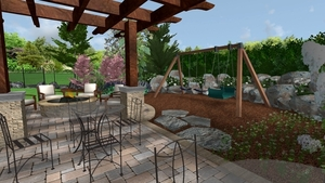 Pergola and Play Area Design