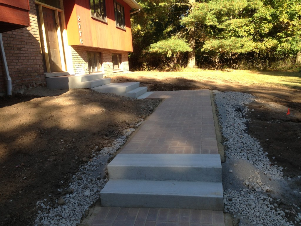 New Walkway With Steps