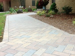 Patio Pavers used for a walkway.