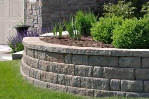 Yard retaining wall
