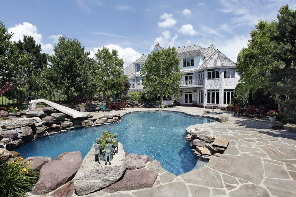 Stone and Paver Pool Area