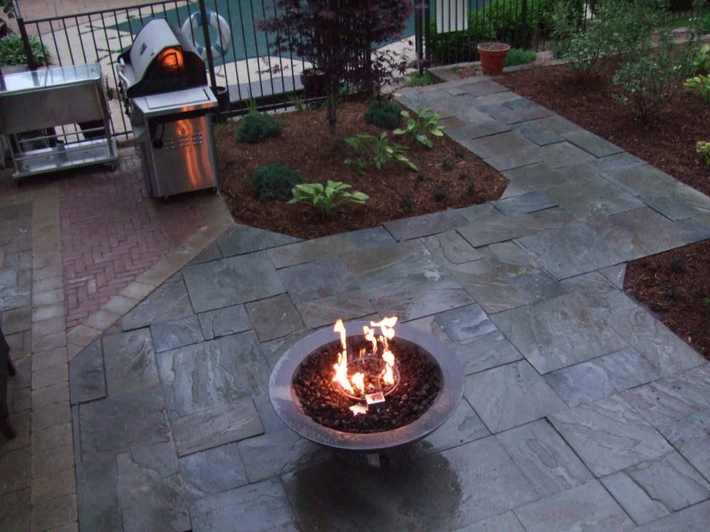 Fire Pit on Paver Patio