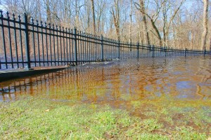 Flooded Park And River