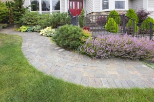 Front Yard Garden Curve Paver Path