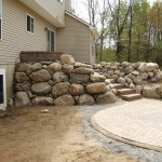 Boulder Retaining Multi-Level Patio