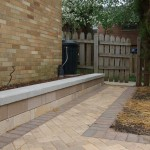 Small Retaining Wall along walkway