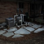 Flagstone pavers for utility access
