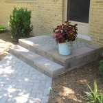 New paver walkway and porch