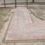 School paver walkway entrance