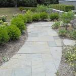 Flagstone curved walkway