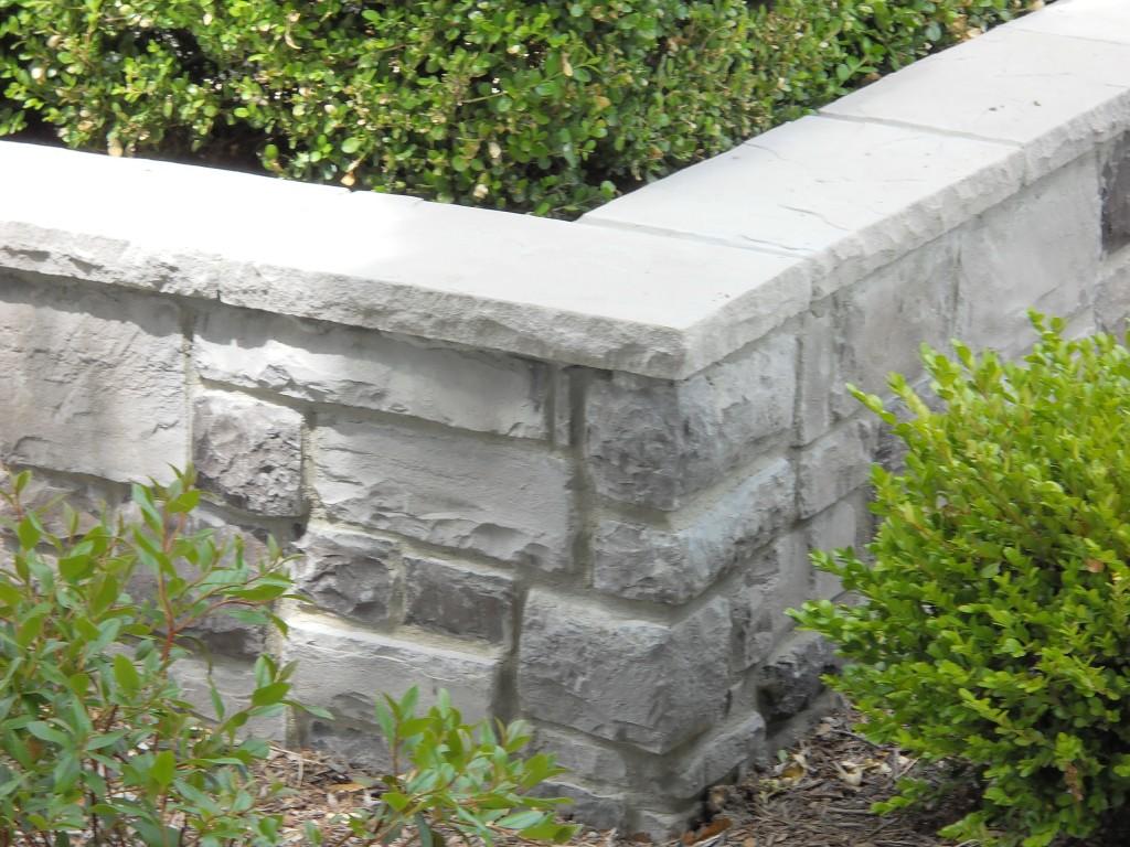 Corner Area Of Short Landscape Retaining Wall