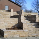 Steps with garden bed inset