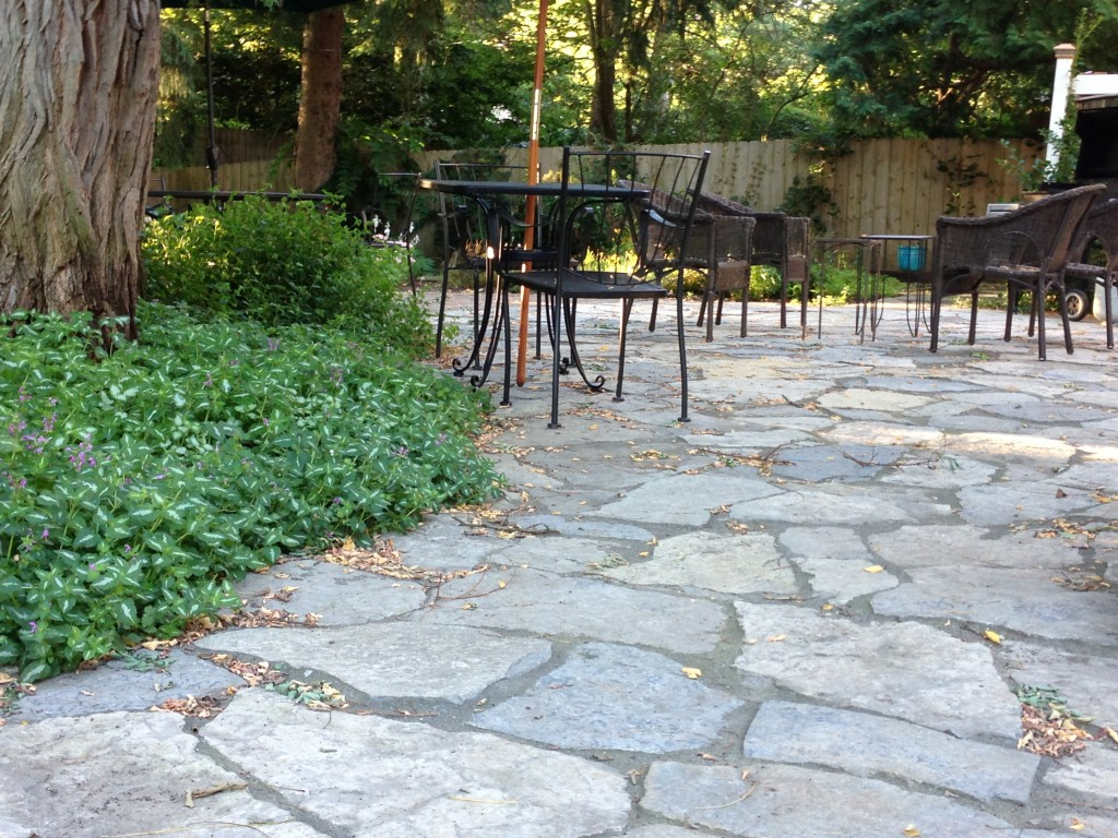 Flagstone dining patio