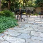 Flagstone dining patio