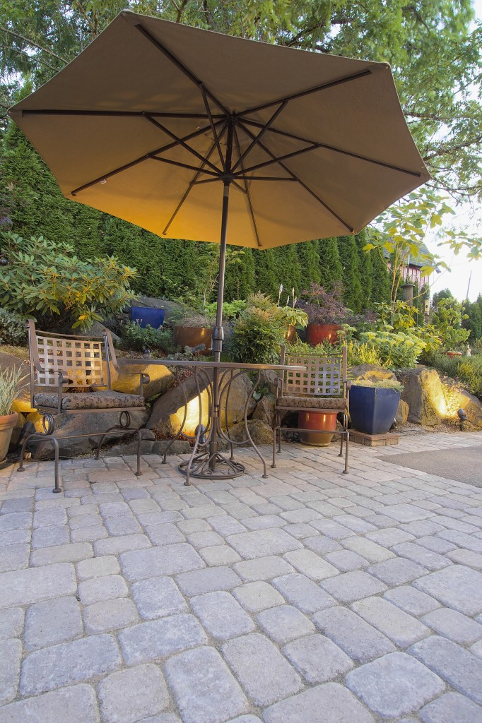 Large Shaded Patio Area