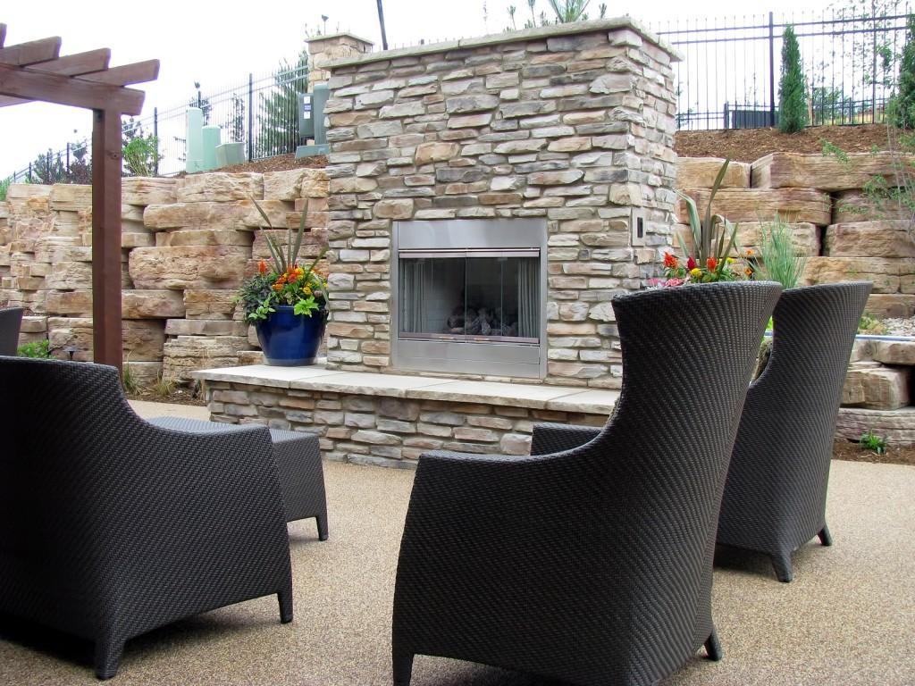 Paver Patio With Fireplace