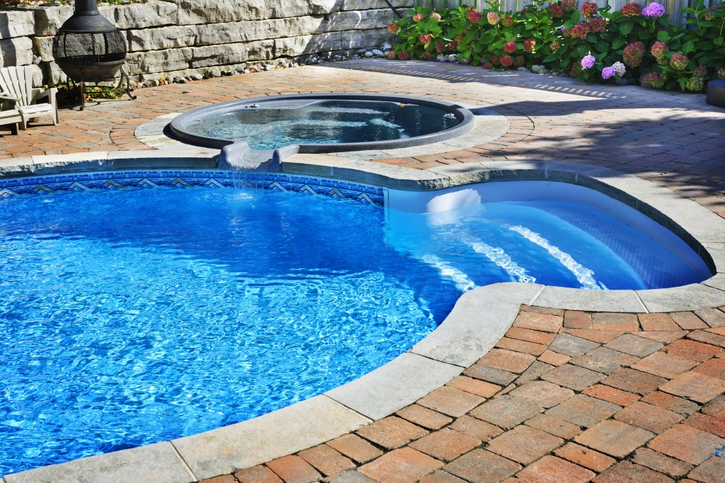 Pool and Hot Tub Paver Deck