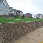 Functional retaining wall on beach