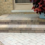 Front step detail with walkway