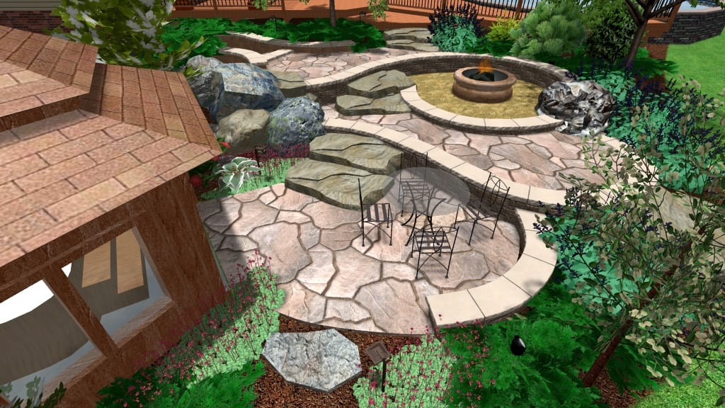 Design to Extend Space With Multi-Level Fire Pit