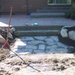 Creation of flagstone area