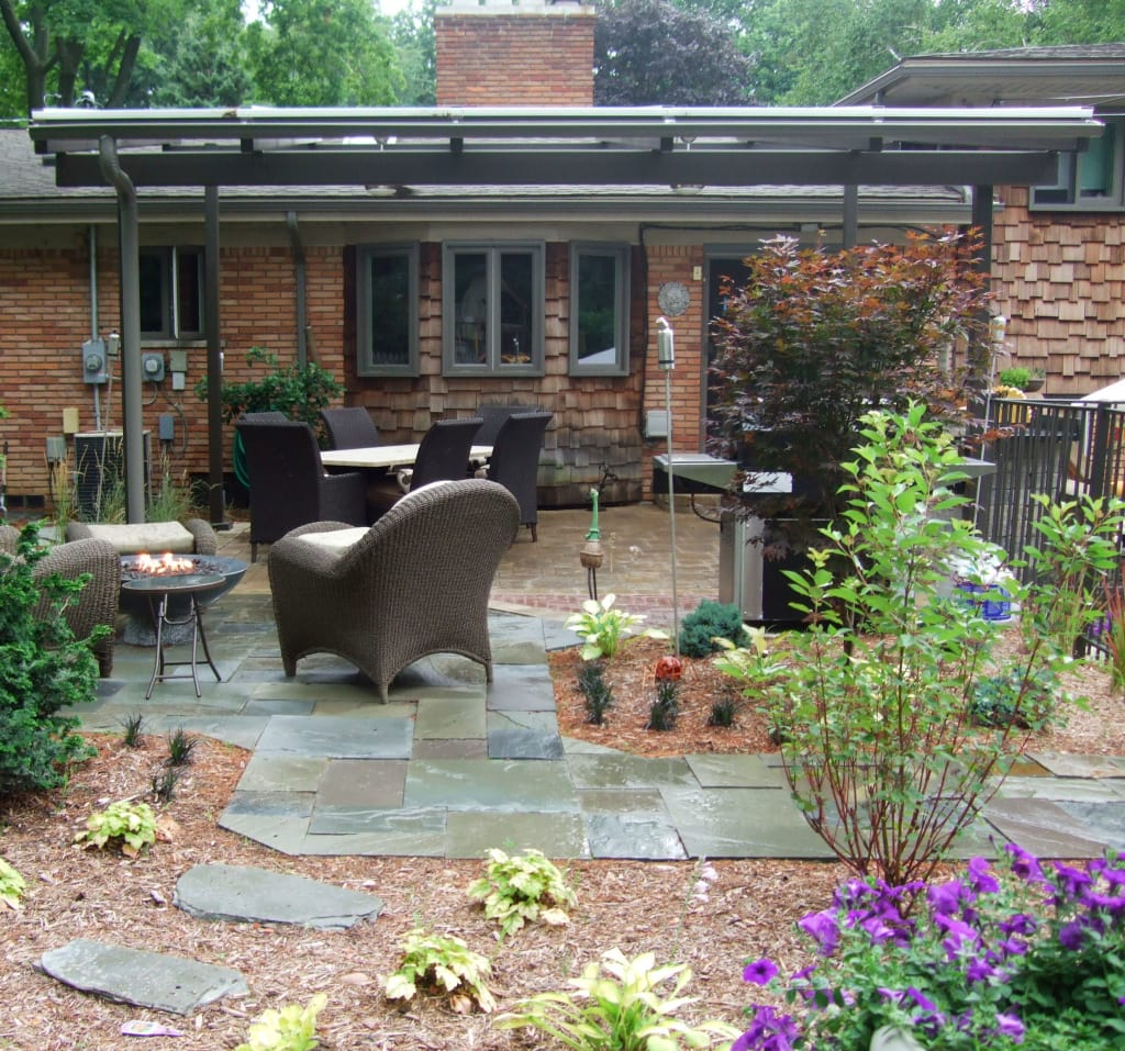 patio with pergola - Eco-Friendly Drainage Solutions For Your Home