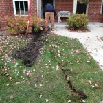 Chatterton drainage for water standing in yard
