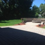 Paver patio with walkway