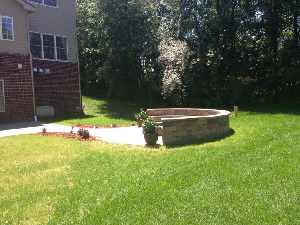 Side View of Fire Pit Area