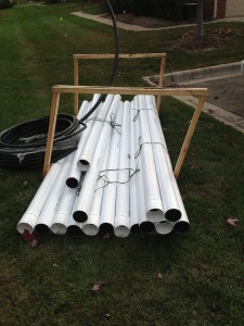 downspouts to be assembled