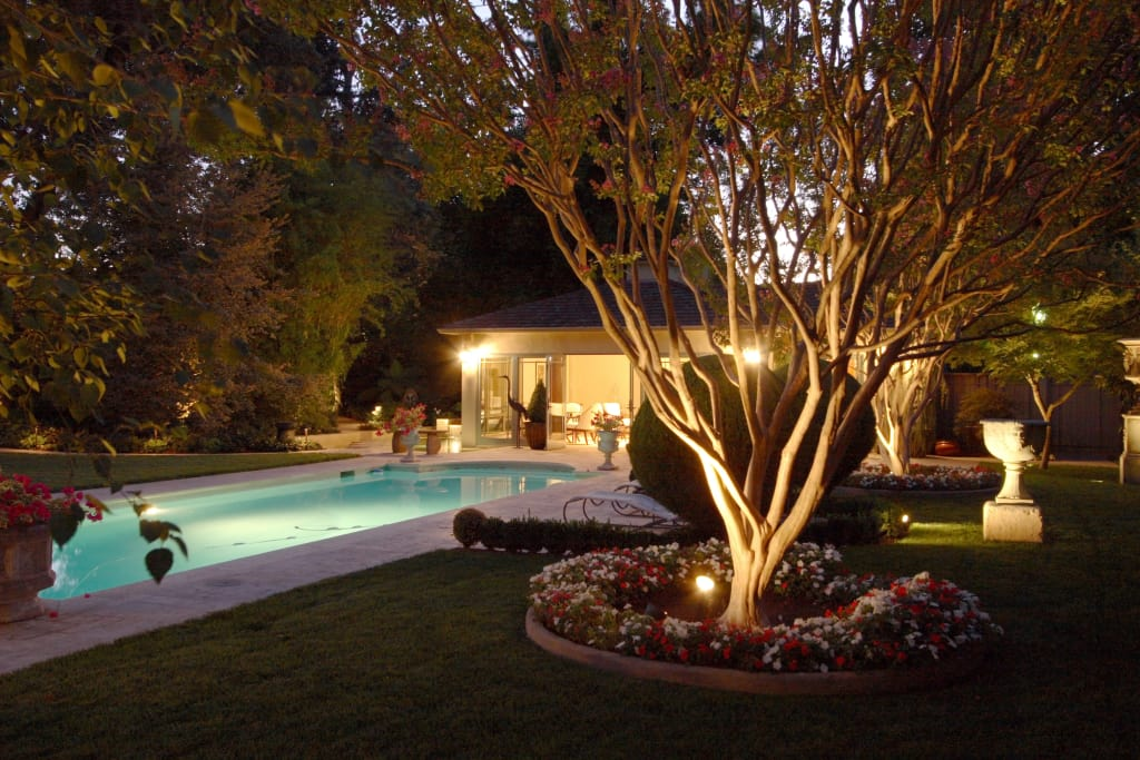 The benefits of installing landscape lighting at your home backyard pool house mozeypictures Image collections