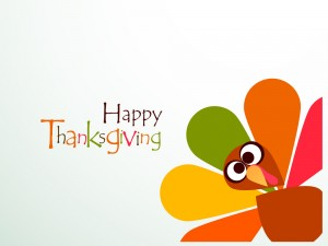 Beautiful, colorful cartoon of turkey bird for Happy Thanksgivin