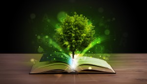 Abstract: Tree growing out of book