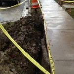 sidewalk boaring for drainage solution