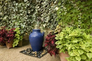 Garden with vase