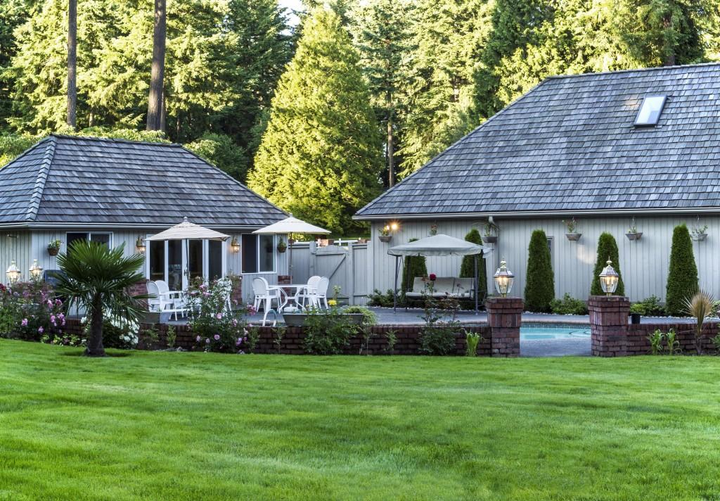 Landscaped Backyard Areas