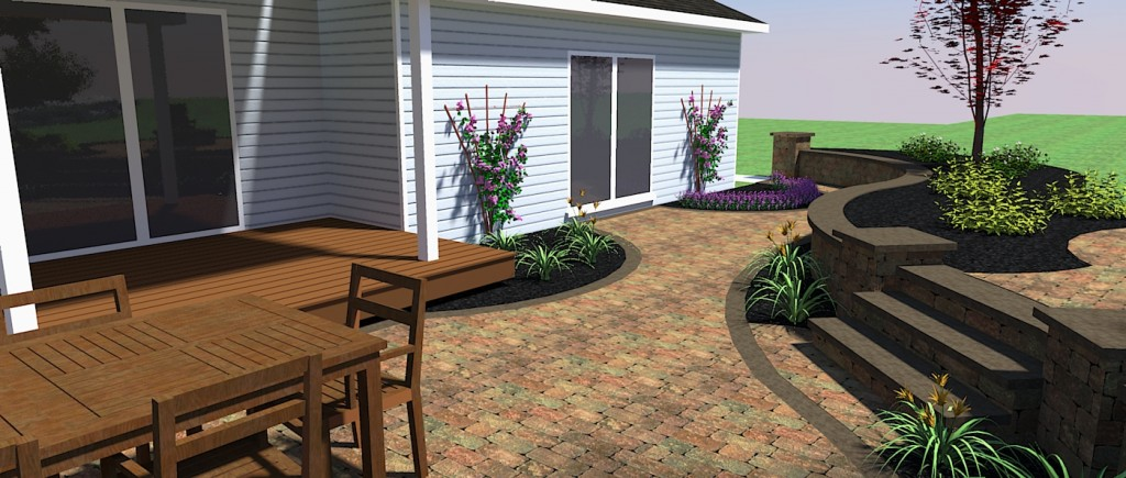 Paver Patio And Back Of The House
