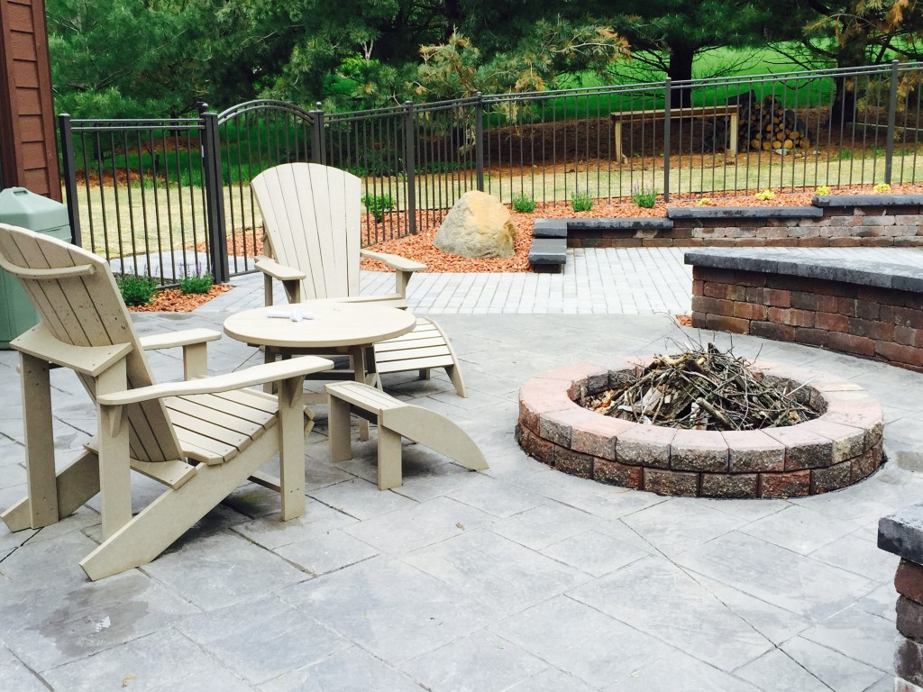 Patio With Fire Pit Area