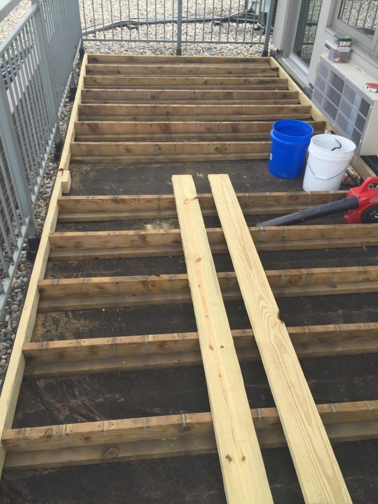 Preparing Deck Frame