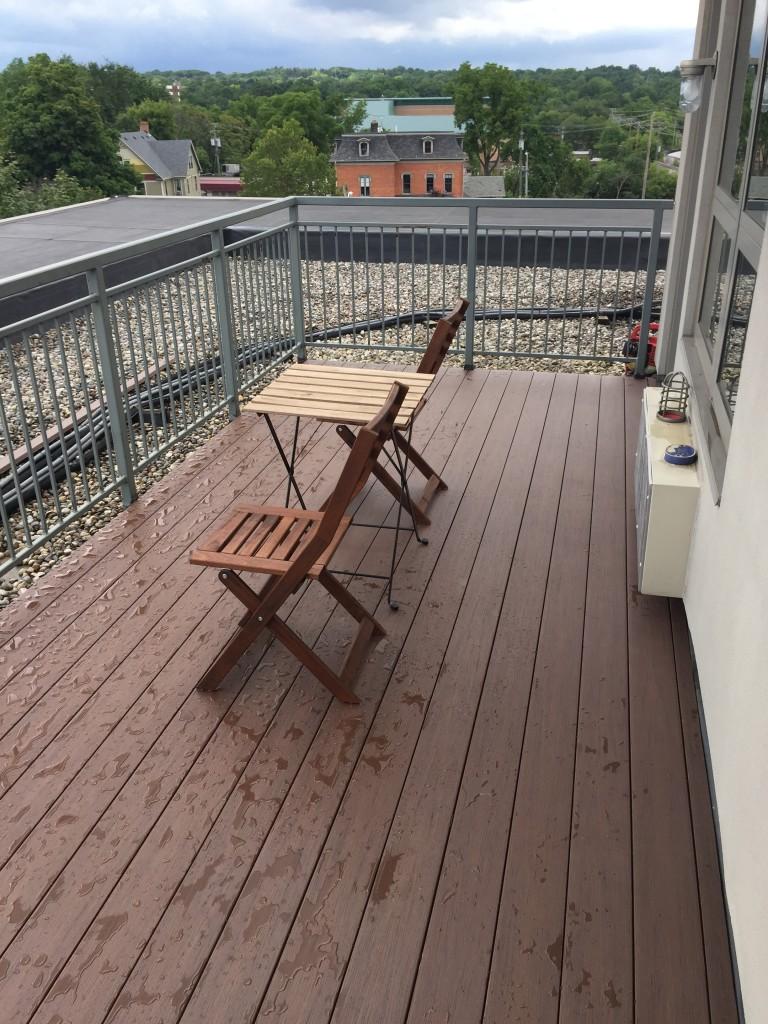 Rooftop Ann Arbor Condo Deck