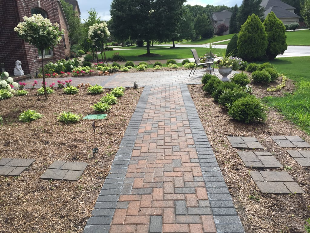 Brick pavers for Brick sidewalk edging