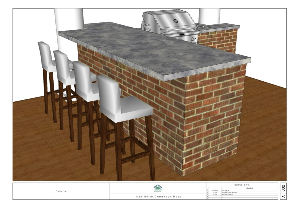 Design For Outdoor Bar and Grill Area